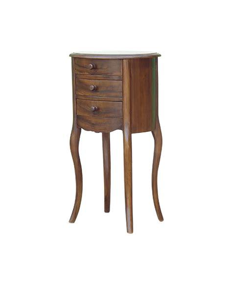 oval wood side table vaylen teak oval side table