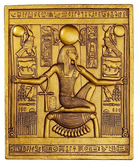 ancient temple wall decor king tut sculptural