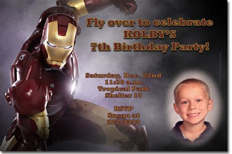 themes man s search for meaning iron man birthday invitations ideas bagvania free