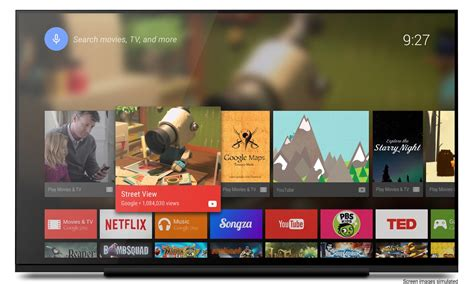 tv with android os about android tv android developers
