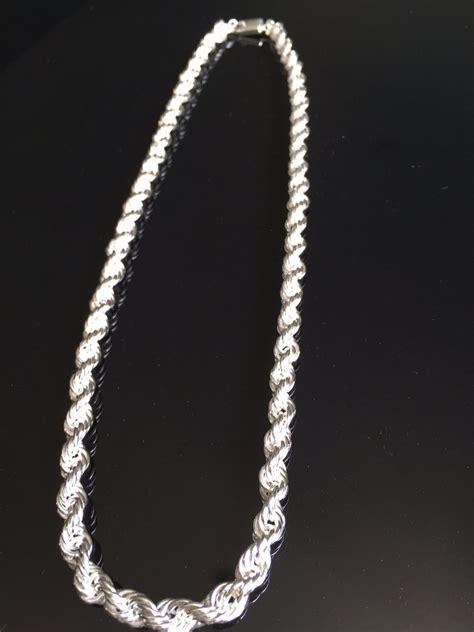 cadena de plata torzal para hombre cadena gruesa de plata ley 925 tipo torzal para caballero