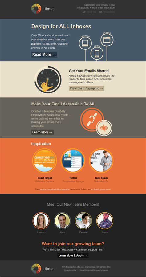 layout de email marketing 33 simple but effective email newsletter designs