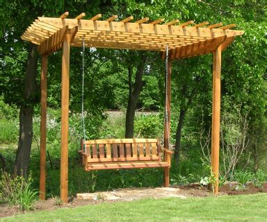Swing With Pergola by Pergola With Swing Landscapes By Earth Design