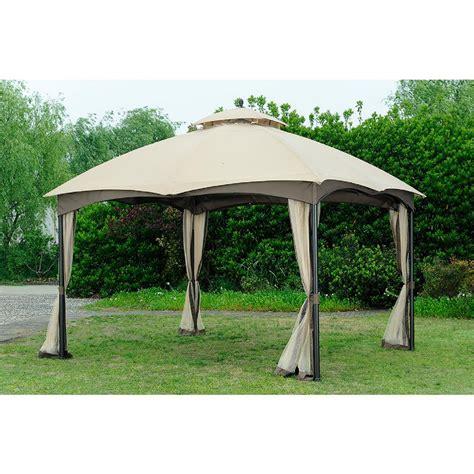 gazebo 10x12 sunjoy replacement canopy set beige for l gz933pst 10x12