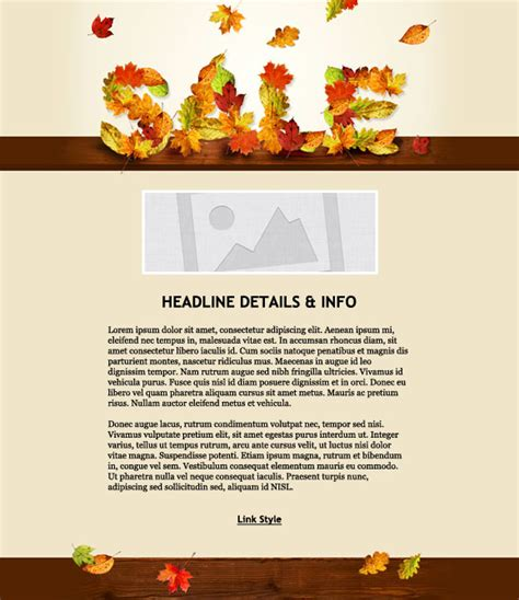thanksgiving email templates fall email marketing templates fall email marketing template