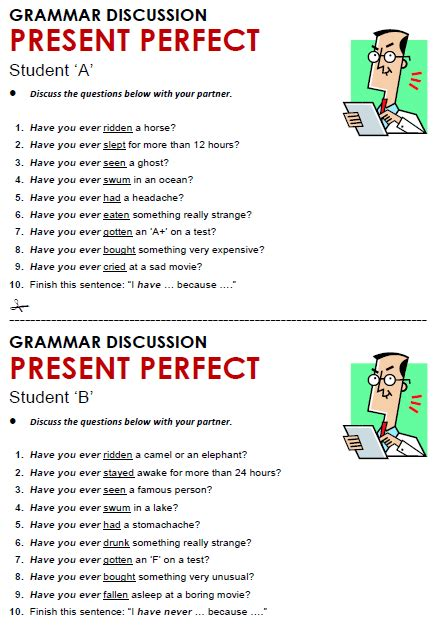 preguntas con have you ever present perfect simple all things grammar