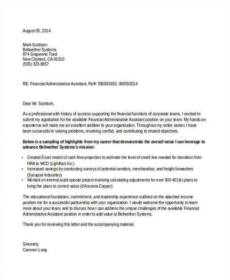 job application letter administrative assistant