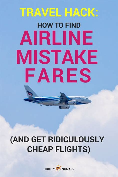 find airline mistake fares  ridiculously cheap flights cheap  wanderlust