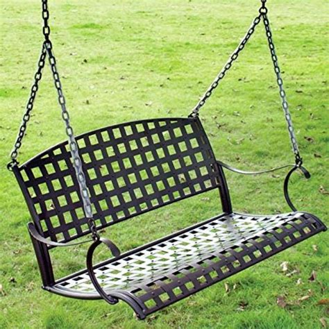 Wrought Iron Patio Swing by Patio And Porch Swings Come Sit A Spell