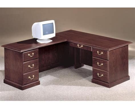 desk traditional 66 x 78 executive l desk left andover