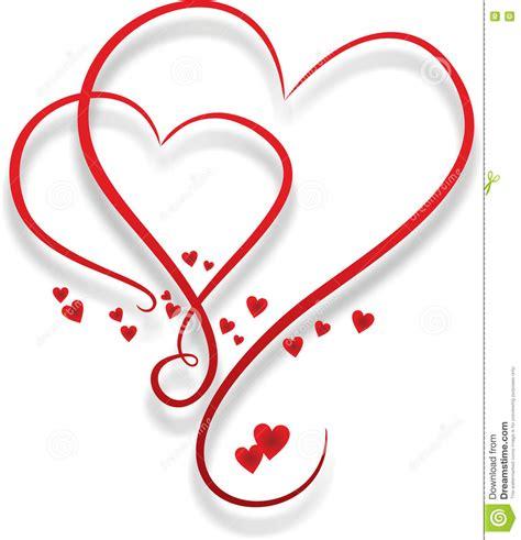 imagenes de corazones entrelazados dos corazones entrelazados stock de ilustraci 243 n imagen