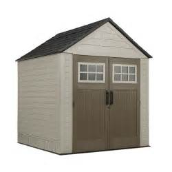 outdoor sheds home depot rubbermaid rubbermaid big max shed 7 ft x7 ft the