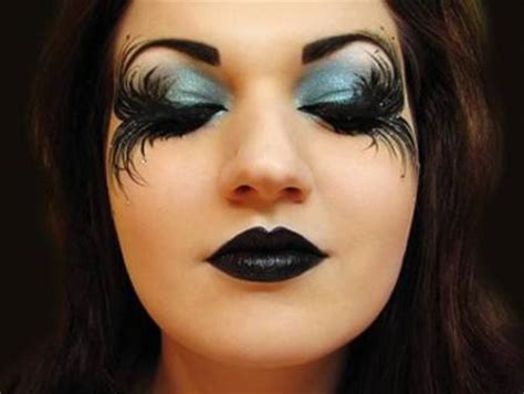 halloween makeup the black angel