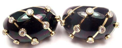 enamel and gold banana clips at 1stdibs tiffany and co jean schlumberger black enamel diamond