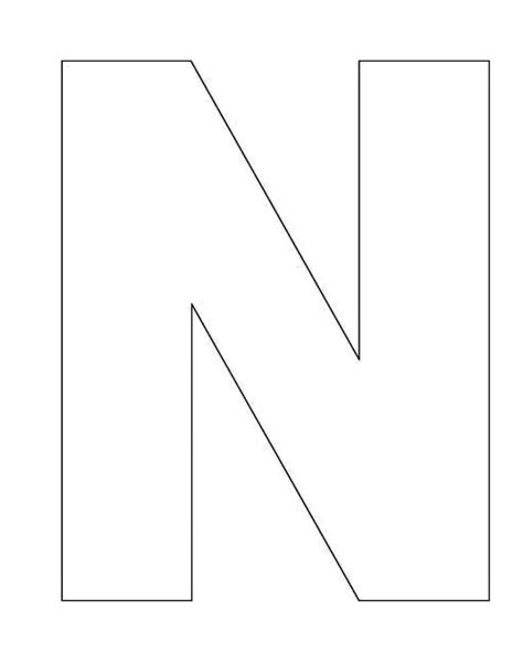 printable letters template 7 best images of printable block letter n block letter