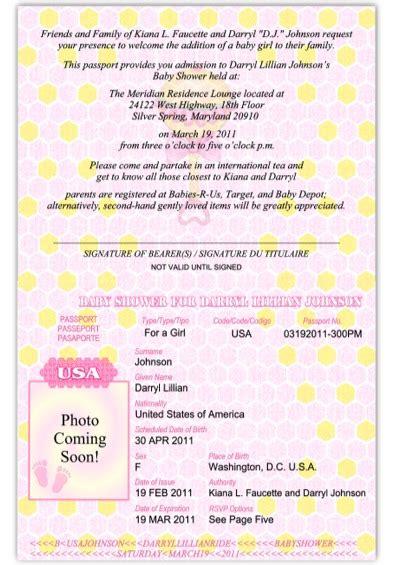 passport 28 baby shower or birth announcement custom