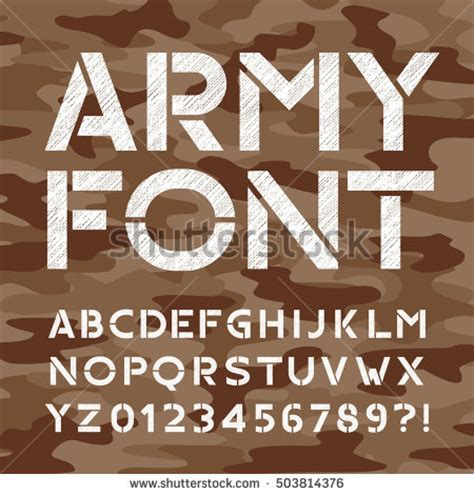 army pattern font stock photos royalty free images vectors shutterstock