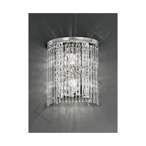 crystal bathroom wall lights bathroom wall light wb048 franklite crystal ip44 wall