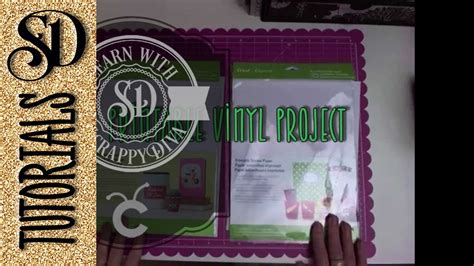 cricut printable vinyl projects printable vinyl project with my cricut explore youtube