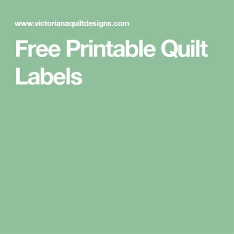 free printable quilt tags pinterest the world s catalog of ideas