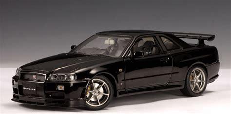 nissan r34 black autoart nissan skyline r34 gtr v spec ii black pearl