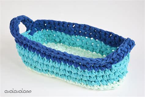 crochet basket pattern with t shirt yarn crochet t shirt yarn baskets four styles cucicucicoo