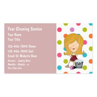 House Cleaning Gift Card - house cleaning business cards templates zazzle