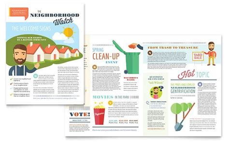 layout para newsletter make a monthly newsletter for your neighborhood