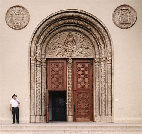Exterior Home Design Gallery Sacred Heart Church Doors Wgh Woodworking