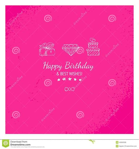 Gift Card Messages - pink gift card with happy birthday message stock illustration image 45062008