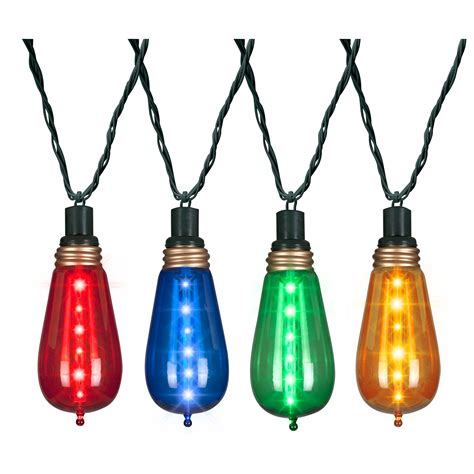 glimmer christmas light string classic colors with kmart