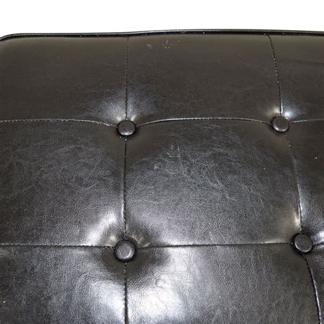 black faux leather ottoman 42 black tufted faux leather ottoman with storage