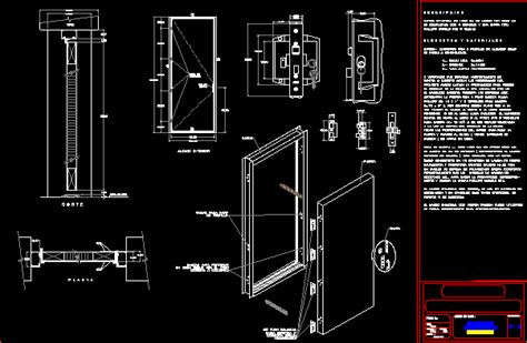 flush door section flush door in autocad drawing bibliocad