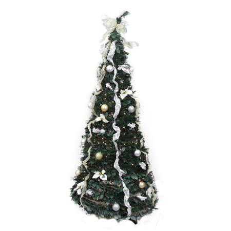 pop up christmas trees at walmart northlight 6 ft pre lit decorated pop up tree walmart