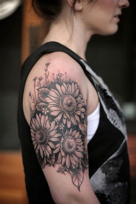 top rated tattoo artists 125 top sunflower tattoos
