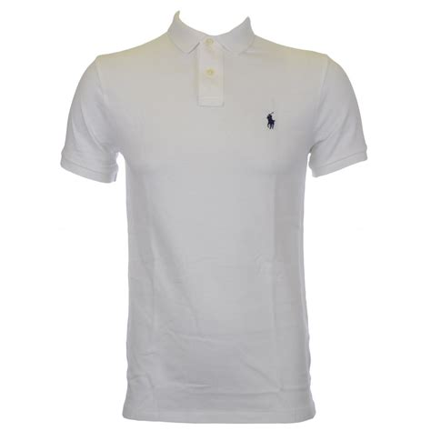 Polo Ralph Laurent polo ralph slim fit white polo shirt polo ralph