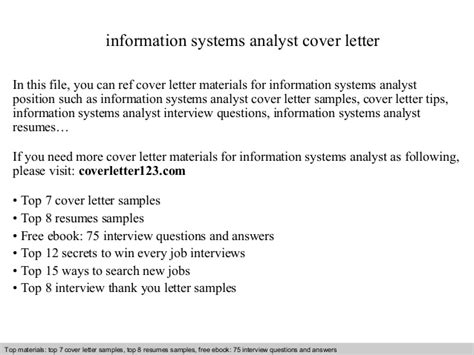 system analyst cover letter information systems analyst cover letter