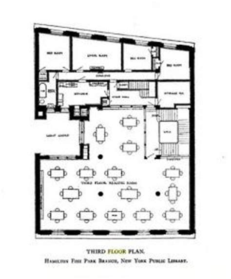 new york public library floor plan floor plan of superintendant s living quarters at hamilton