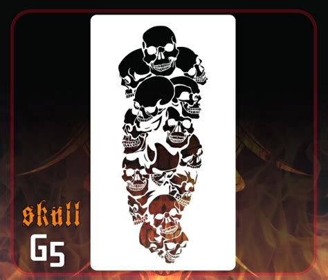skull template airbrush skull stencil 25 sk25 163 3 69 deltaarts professional