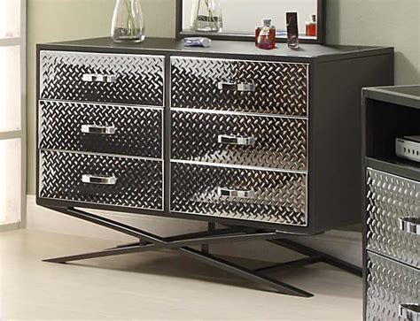 metal bedroom furniture homelegance spaced out dresser 813 5