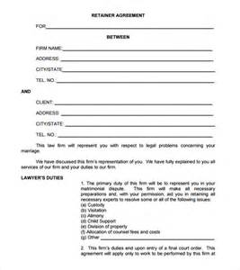Retainer Agreement Letter Sle Retainer Agreement 8 Free Sles Exles Format