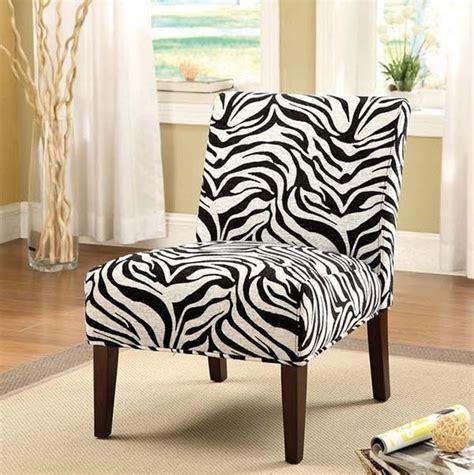 zebra pattern chair acme furniture aberly accent chair in zebra pattern