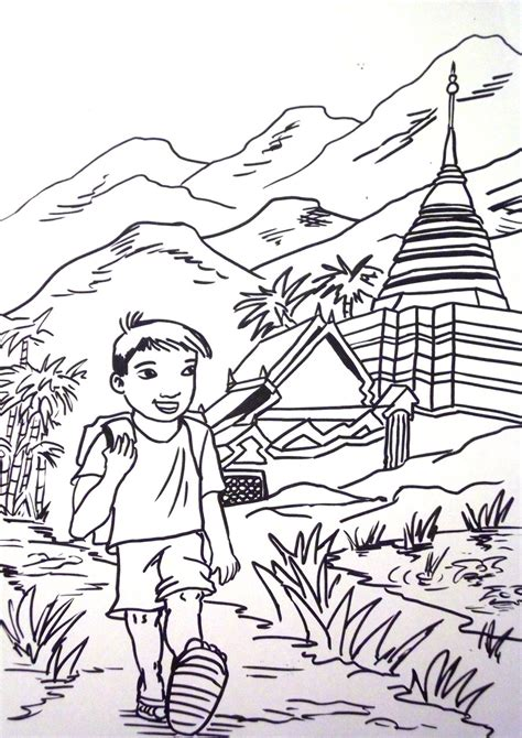 another thai colouring page by vinnie1982 on deviantart