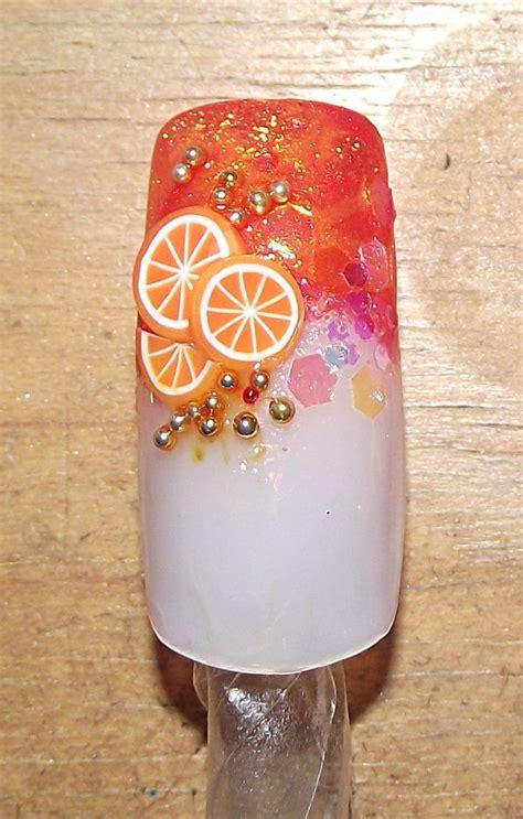 orange slice nail designs orange nail designs orange