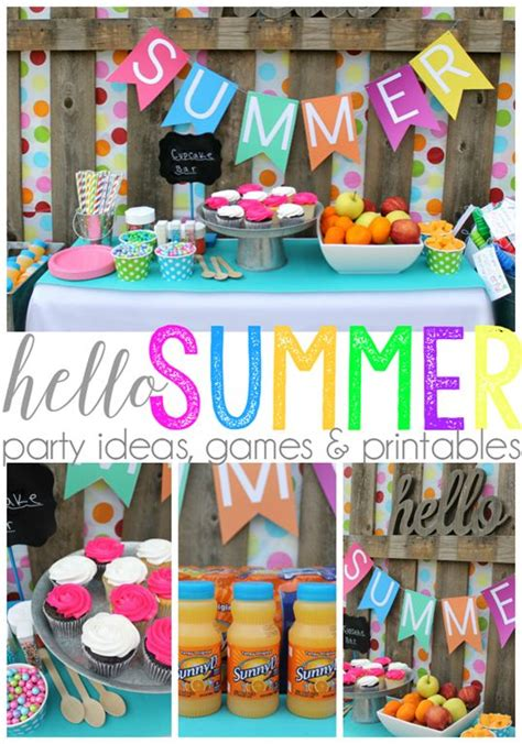 summer party ideas 25 best ideas about summer party themes on pinterest luau party kids movie nights and