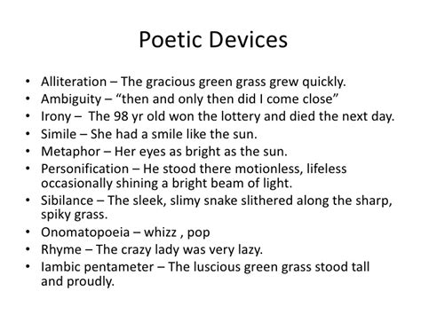 layout definition poetry poetic devices exles