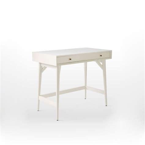 white mid century desk mid century mini desk white elm