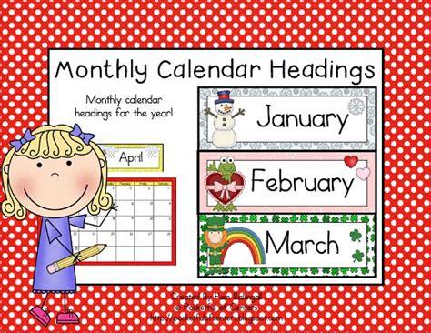 printable calendar headings monthly calendar headings monthly calendars and calendar