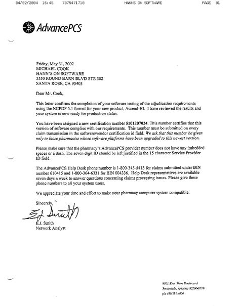 medicaid certification letter electronic payers