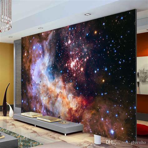 galaxy wallpaper for rooms australia 3d gorgeous galaxy photo wallpaper custom silk wallpaper